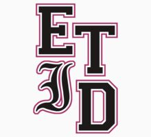 Every Time I Die - Varsity Letters (Black in Pink) by PonchTheOwl