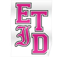 Every Time I Die - Varsity Letters (Pink in Black) Poster