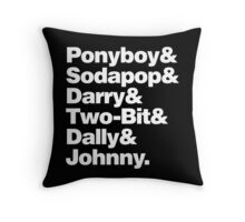 THE OUTSIDERS Throw Pillow