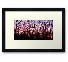 Fire and Earth Framed Print