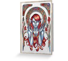Dark Elven Magdalene Greeting Card
