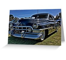 1950 Black Cadillac 4 door Greeting Card