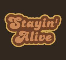 Stayin' Alive - Retro 70s - Logo by graphix