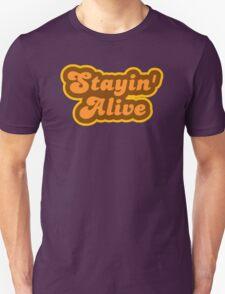 Stayin' Alive - Retro 70s - Logo Unisex T-Shirt