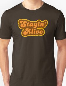Stayin' Alive - Retro 70s - Logo T-Shirt