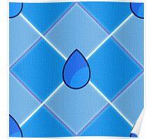 Steven Universe Lapis-Inspired Pattern Poster
