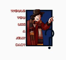 would you like a jelly baby ? Fourth doctor Mens V-Neck T-Shirt