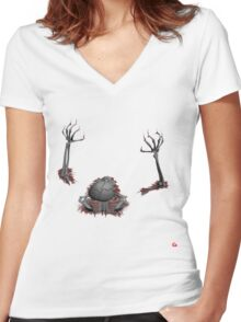 SKELTON/ BREAKING OUT Women's Fitted V-Neck T-Shirt