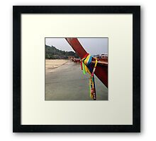 Long boats in Phiphi, Thailand  Framed Print
