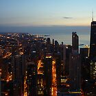 Chicago Highrise Sunrise  by basalt101