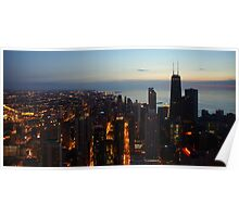 Chicago Highrise Sunrise  Poster