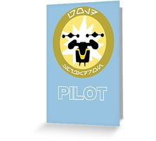 Star Wars Unit Insignia - Gold Squadron Greeting Card