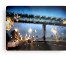 Nightfall, Northern Motorway, Auckland, New Zealand. Metal Print