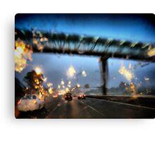 Nightfall, Northern Motorway, Auckland, New Zealand. Canvas Print