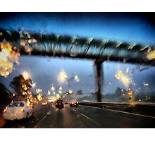 Nightfall, Northern Motorway, Auckland, New Zealand. Photographic Print