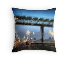 Nightfall, Northern Motorway, Auckland, New Zealand. Throw Pillow