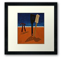 Pi Observing Utensils About to Kiss at Two in the Afternoon Framed Print