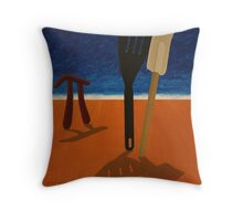 Pi Observing Utensils About to Kiss at Two in the Afternoon Throw Pillow