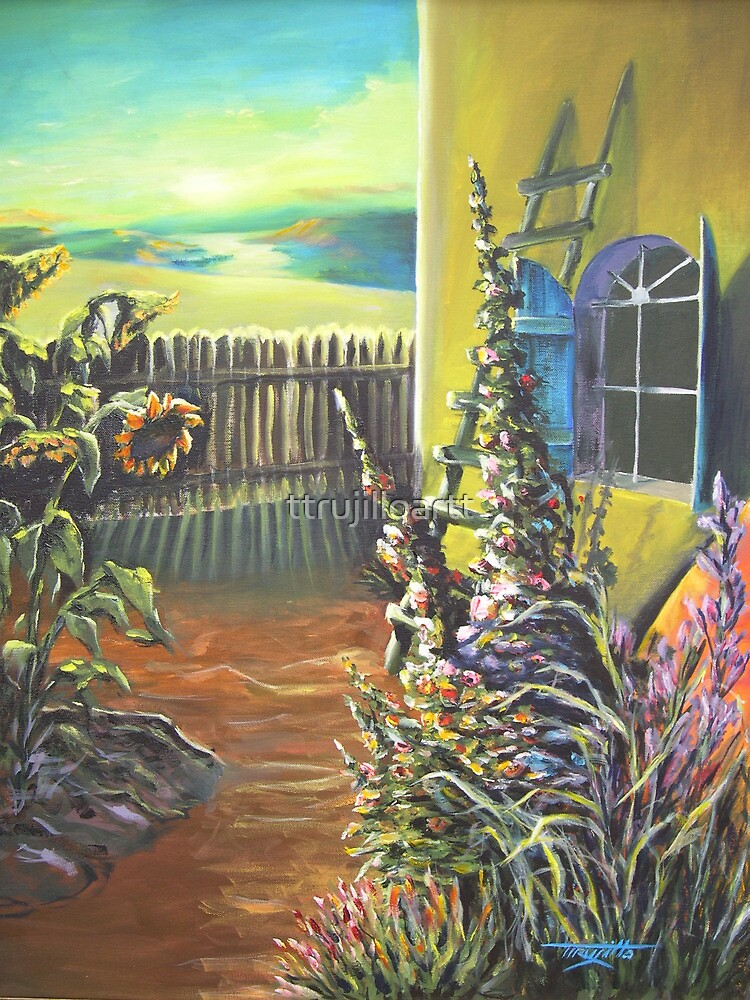 Aunt Carries Garden by ttrujilloartt