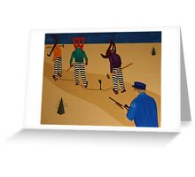 Autoanimation Convicts on a Chain Gang Greeting Card