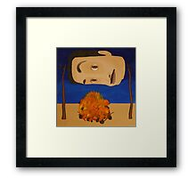 Self Portrait Roasting Over an Open Fire Framed Print