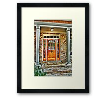 Protected by Angels and Gargoyles Framed Print