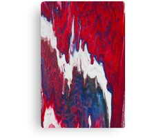 Paint - Blue White Red Dripped Canvas Print