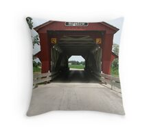 Bigelow Covered Bridge 1873 Throw Pillow