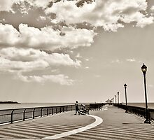 Ocean Breeze Fishing Pier by Yelena Rozov