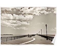 Ocean Breeze Fishing Pier Poster