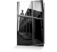 Hydro Reflections in B&W Greeting Card