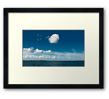 White cloud Framed Print