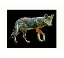Medicine Wheel Totem Animals by Liane Pinel- Coyote Art Print