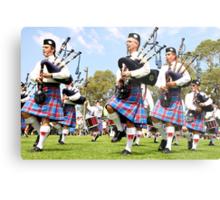 Scottish Highland Pipe & Drum Band  Metal Print