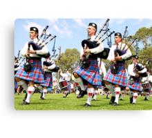 Scottish Highland Pipe & Drum Band  Canvas Print