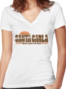 Santa Carla Women's Fitted V-Neck T-Shirt