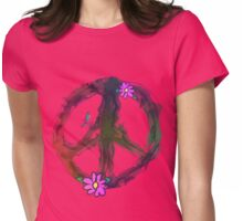 PEACE-Natural Peace Sign Womens Fitted T-Shirt