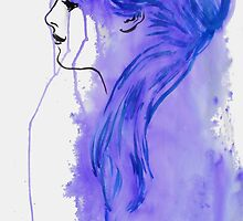 the girl with the lavender hair by Loui  Jover