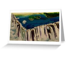 Edge of the earth Greeting Card