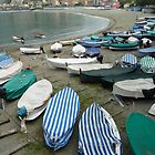 Beach Scene in Levanto, Italy. by joycee