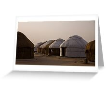 Yurts at Ayaz Kala Greeting Card