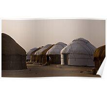 Yurts at Ayaz Kala Poster