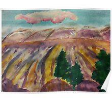 Mesa Grande, watercolor Poster