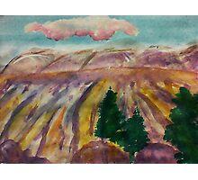 Mesa Grande, watercolor Photographic Print