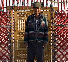 Ayaz Kala Yurt Man by Gillian Anderson LAPS, AFIAP