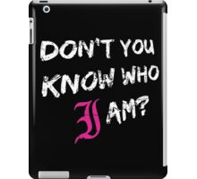 Every Time I Die - Don't You Know Who I Am? (White) iPad Case/Skin