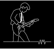 Alex Turner Arctic Monkeys AM Outline Photographic Print