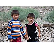 Brother & Sister Photographic Print