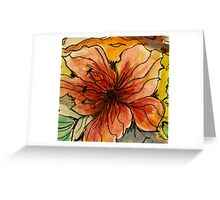 Hibiscus - 4 Greeting Card