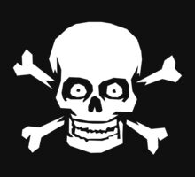 Jolly Roger Pirate Skull and Crossbones by Chuffy
